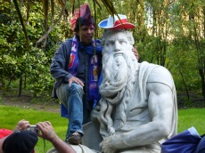 A copy of Michelangelo's Moses in Myers Park during the Rugby World CUp, 2011