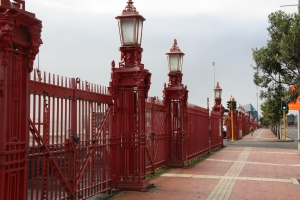 The Red Wrought Iron Fence