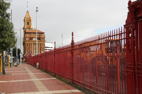 Ports of Auckland's Red Fence keeps the neighbours out.