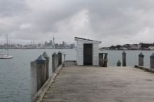 Torpedo Bay wharf was rebuilt in 2004 and is a great place for fishing or taking photographs