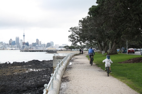 Cycle or walk along KIng Edward Parade towards North Head - take a camera for great views of Auckland