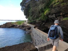 Walkway around the bottom of North Head leading to gun emplacements, tunnels and hidden stairs