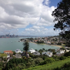 Devonport from the top of North Head. Auckland in the background