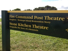 "The old stone kitchen is a theatre now where you can see ""Never Fired in Anger"""