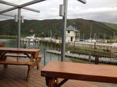 Breakfast, lunch or dinner at the Slip Inn in the marina where you can watch the boats that caught your dinner