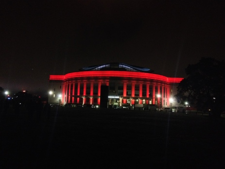 New Zealand sent more men to fight in WW1 per head of population than any other nation. After the war, memorials were built in towns up and down the country so that families would have a place to go to remember their loved ones, buried in unmarked graves far away. This is the War Memorial in Auckland's Domain lit up for ANZAC Day.
