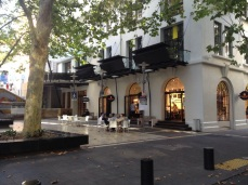 New stylish cafes open out onto Khartoum Place