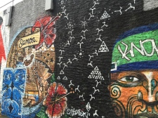Graffiti wall in Ponsonby